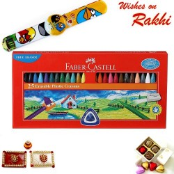 Faber Castell 25 Crayons Set with Rakhi