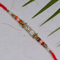 Fabulous Fancy Beads and Pearls Work Rakhi