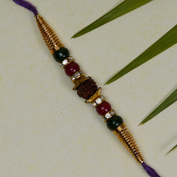 Fancy Rudraksh and Beads Rakhi
