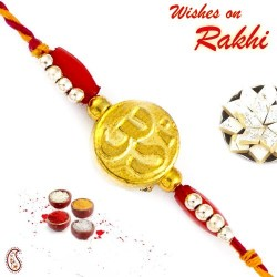 Golden OM Mauli Rakhi