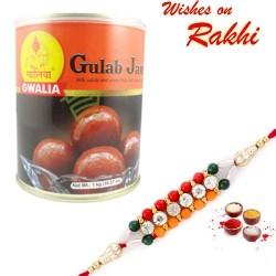 Gwalia Gulab Jamun Pack with Bhaiya Rakhi