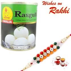 Gwalia Rasgulla Pack with Bhaiya Rakhi