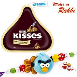 Hershey's Kisses Almonds Chocolate with Kids Rakhi