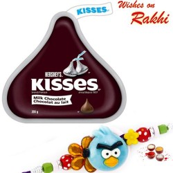 Hershey's Kisses Milk Chocolate with Kids Rakhi