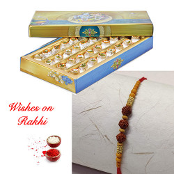 Kaju Kalash with Divine Rudraksh Rakhi