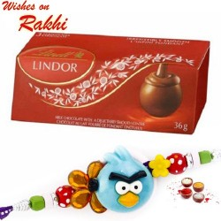 Lindt Lindor Delicious Chocolate with Kids Rakhi