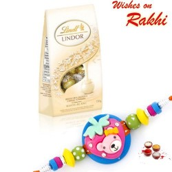 Lindt Lindor Milk Chocolate with Kids Rakhi