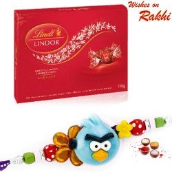 Lindt Lindor Milk Lait Chocolate with Kids Rakhi