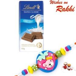 Lindt Swiss Classic Milk Lait Chocolate with Kids Rakhi
