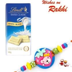 Lindt Swiss Classic White Blanc Chocolate with Kids Rakhi