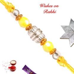 Lovely Coloring Beads Work Rakhi