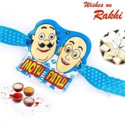 Lovely Motu Patlu Blue Band Kids Rakhi