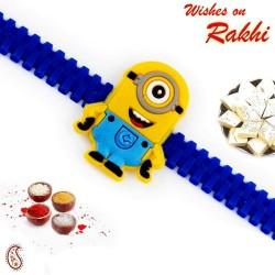 Minion Motif Blue Band Kids Rakhi