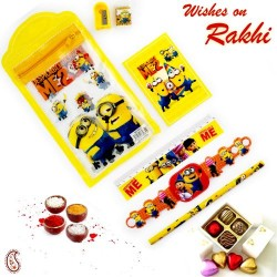 Minion Pouch Box and Rakhi Kids Hamper