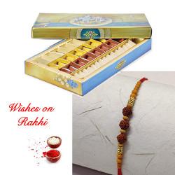 Mix Katli with Rudraksh Rakhi for Bhaiya