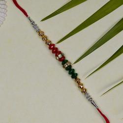 Multicolor Beads Work Rakhi