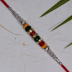 Multicolor Crystals AD and Beads Rakhi
