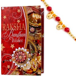 Multicolor Rakhi Message Card with FREE Rakhi