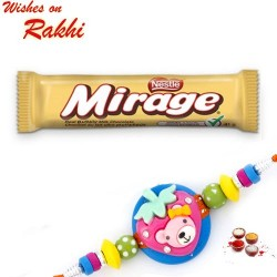 Nestle Mirage Bubbly Milk Chocolate with Kids Rakhi