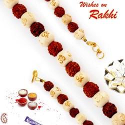 OM Beads and Rudraksh Bracelet Rakhi