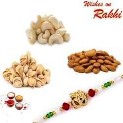 OM Rakhi and Dryfruits Set