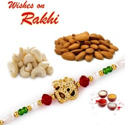 OM Rakhi with Cashews and Almonds