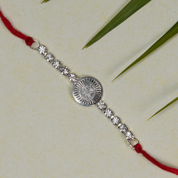 OM with AD Studded Rakhi