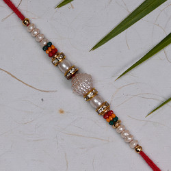 Pearls with Multicolor Beads Rakhi