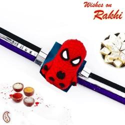 Pleasant Spiderman Motif Kids Rakhi