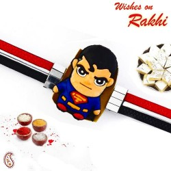 Pleasant Superman Motif Kids Rakhi