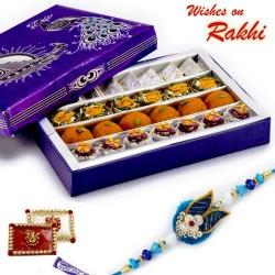 Premium Assorted Kaju Sweets and Bundi Laddoo with FREE 1 Rakhi