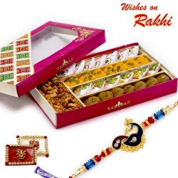 Premium Assorted Sweets and Namkeen Pack with FREE 1 Rakhi