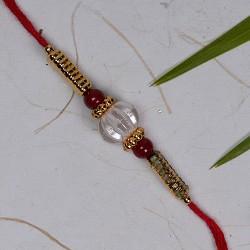 Lovely Beads Work Rakhi