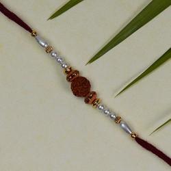 Rudraksh Beads and Pearls Rakhi