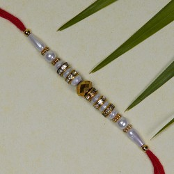 Amazing Pearls and Beads Rakhi