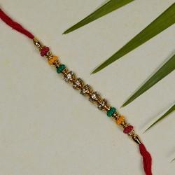 Marvelous Multicolor Beads Rakhi