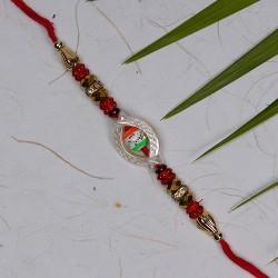 Fancy AD and Beads Work Rakhi
