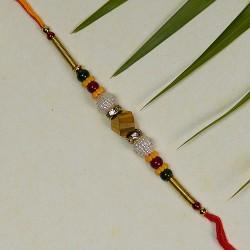 Beautiful Multicolor Beads Rakhi