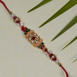 Beautiful Multicolor AD and Beads Rakhi