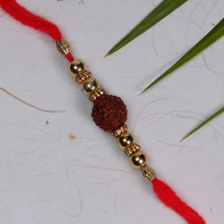 Fancy Rudraksh and Beads Rakhi