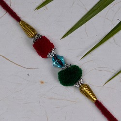 Coloring Gotta with Crystal and Beads Rakhi
