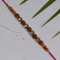 Rudraksh with AD and Beads Rakhi