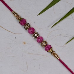 American Diamonds with Colored Crystals Rakhi