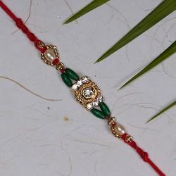 American Diamonds with Coloring Beads Rakhi