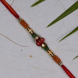 Delicate AD Crystals and Beads Rakhi
