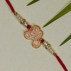 Fancy Rakhi with Pearls Beads and AD