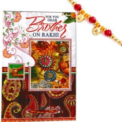 Rakhi Card with Lovely Message and Rakhi