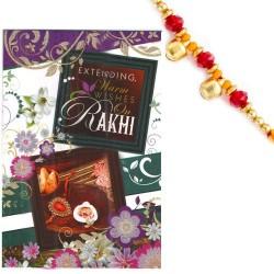 Rakhi Card with Message Feelings and Rakhi