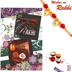 Rakhi Card with Message, Feelings and Rakhi