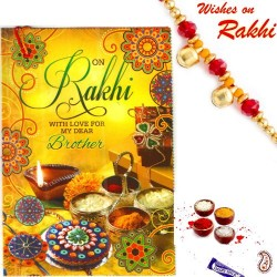 Rakhi Card with Wonderful Message and Rakhi